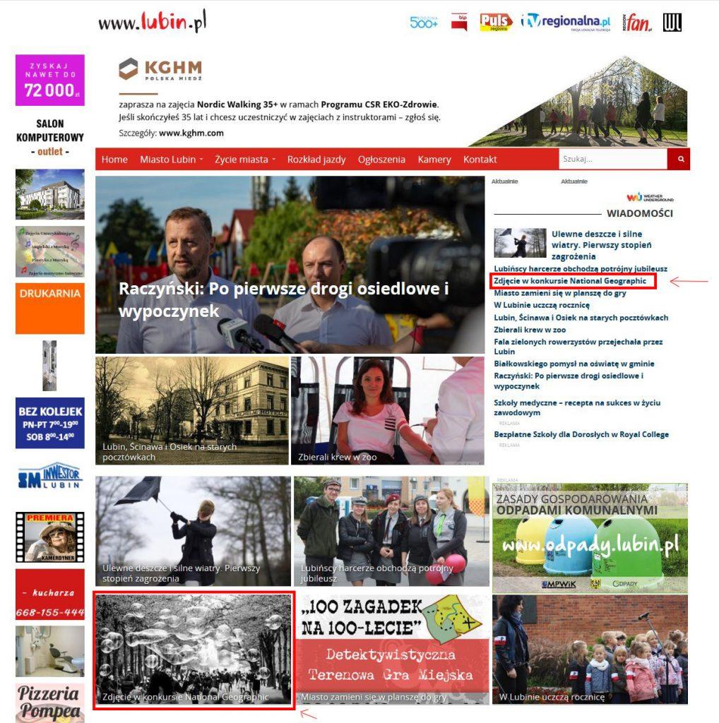 lubin.pl - Mieńko Fotografia w mediach